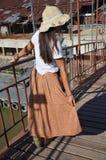 Thailändsk kvinnamodell för stående Arkivfoto