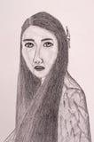 Thailändsk kvinnaståendemålning Arkivbilder