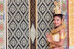 Thailändsk lady Arkivbilder