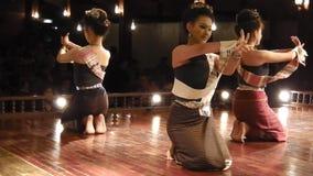 Thailändsk levande ljusdans lager videofilmer