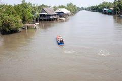 Thailändsk lokal kanal Arkivfoto