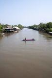 Thailändsk lokal kanal Arkivbild
