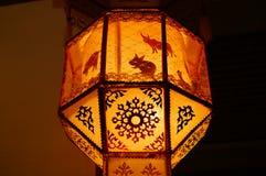 Thailändsk lokal lampa Fotografering för Bildbyråer
