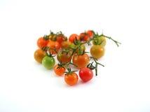 Thailändsk lokal mini- tomat på vit Royaltyfri Fotografi