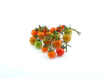 Thailändsk lokal mini- tomat på vit Royaltyfria Foton