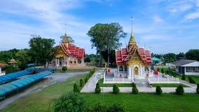 Thailändsk lokal tempel fotografering för bildbyråer