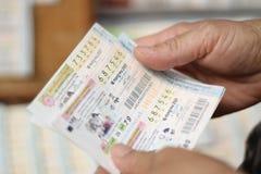 Thailändsk lotteri Royaltyfri Fotografi