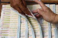 Thailändsk lotteri Arkivfoton