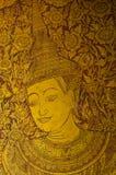 Thailändsk målarfärg på väggen Fotografering för Bildbyråer