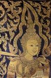 Thailändsk målning i wat Royaltyfri Fotografi