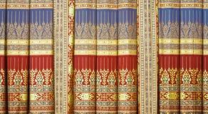 Thailändsk målninggardin Arkivbild