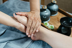 Thailändsk massageserie arkivbilder