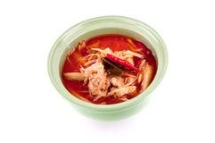 Thailändsk mat, bambuforcurry Arkivfoton