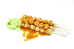Thailändsk mat för köttbollar Royaltyfri Foto