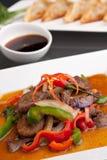 Thailändsk mat för kryddig aubergine Arkivfoto