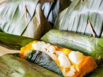 Thailändsk mat kallade Hor Mok arkivfoton