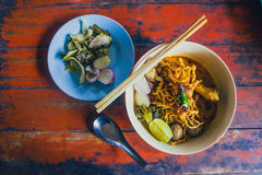 Thailändsk mat & x28; Nordliga Thai& x29; arkivfoto