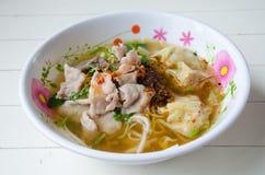 Thailändsk mat, nudel Royaltyfri Fotografi