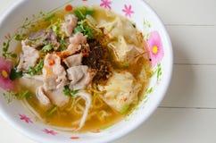 Thailändsk mat, nudel Arkivbilder