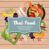 Thailändsk mat och kokkonst Arkivfoton