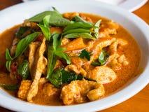 Thailändsk mat, Panaeng Gai Fotografering för Bildbyråer