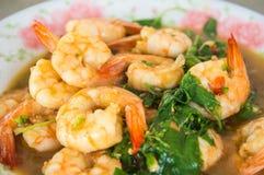 Thailändsk mat, räka Royaltyfria Foton