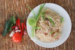 Thailändsk mat, vadderar thai thailändska stilnudlar Royaltyfria Bilder