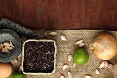 Thailändsk matbakgrund Fotografering för Bildbyråer