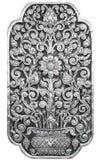 Thailändsk modell för silver på isolerad vit bakgrund Royaltyfri Fotografi