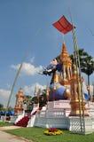 Thailändsk munkCrematory elefant Arkivfoton