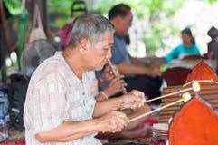 Thailändsk musikmusikband Royaltyfri Foto