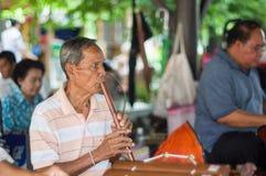 Thailändsk musikmusikband Fotografering för Bildbyråer