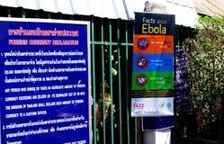 Thailändsk-Myanmar gräns - Ebola varning arkivfoton