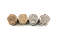 Thailändsk mynt/two baht Arkivbild