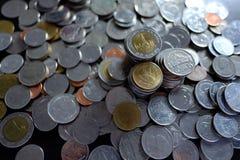 Thailändsk myntbaht Fotografering för Bildbyråer