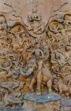 Thailändsk mytologistaty. Royaltyfri Foto