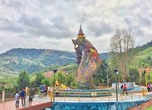 Thailändsk naga Fotografering för Bildbyråer