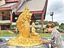 Thailändsk naga Arkivbild