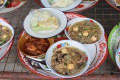 Thailändsk nordlig matstil för Serve Arkivbild
