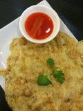 Thailändsk omelett Royaltyfri Foto