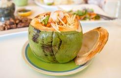 Thailändsk papaya Fotografering för Bildbyråer