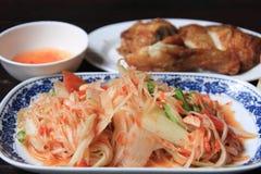 Thailändsk papayasallad Royaltyfria Bilder