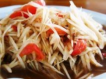 Thailändsk papayasallad SOM-TAM Royaltyfria Bilder