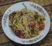 Thailändsk papayasallad som vets också som Somtumen från Thailand royaltyfria foton