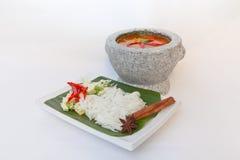 Thailändsk pasta royaltyfri bild