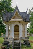 Thailändsk paviljongstil på Ayutthaya arkivbild