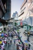 Thailändsk person som protesterar mot regering Arkivbild