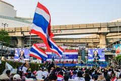 Thailändsk person som protesterar mot regering Royaltyfri Foto