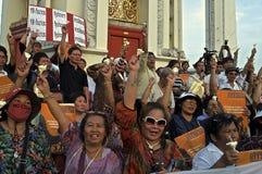 Thailändsk politisk kris Arkivfoton