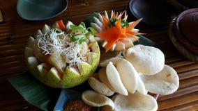 Thailändsk pomelosallad Arkivbilder